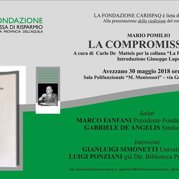 """Presentazione riedizione romanzo """"La Compromissione"""" di Mario Pomilio"""
