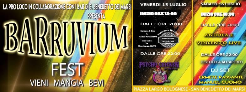 Prima edizione del Barruvium Fest