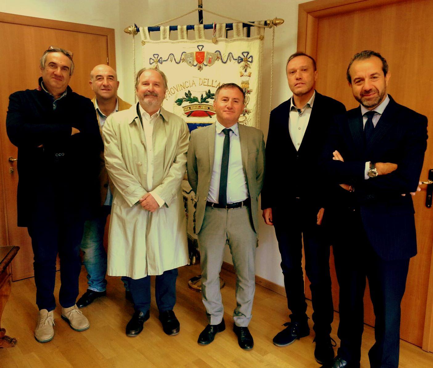 Firmato il contratto per la nuova sede della Provincia dell'Aquila a S. Agostino
