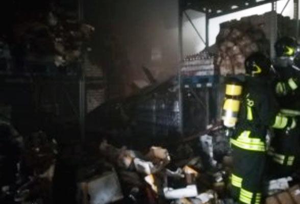 Carsoli, incendio alla struttura Madama Oliva, gravi danni alla struttura