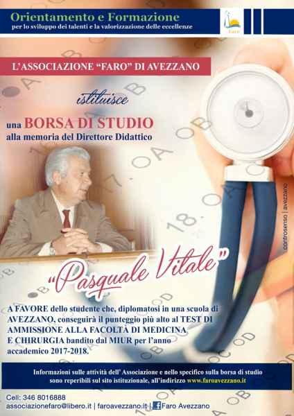 Alessandro Pietrobattista si aggiudica la borsa di studio intitolata alla memoria di Pasquale Vitale