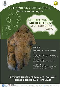 """Due nuovi appuntamenti con """"Fucino 2016. Archeologia a chilometro zero"""""""