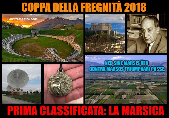 """La Marsica vinGe la """"Coppa della fregnità 2018"""""""