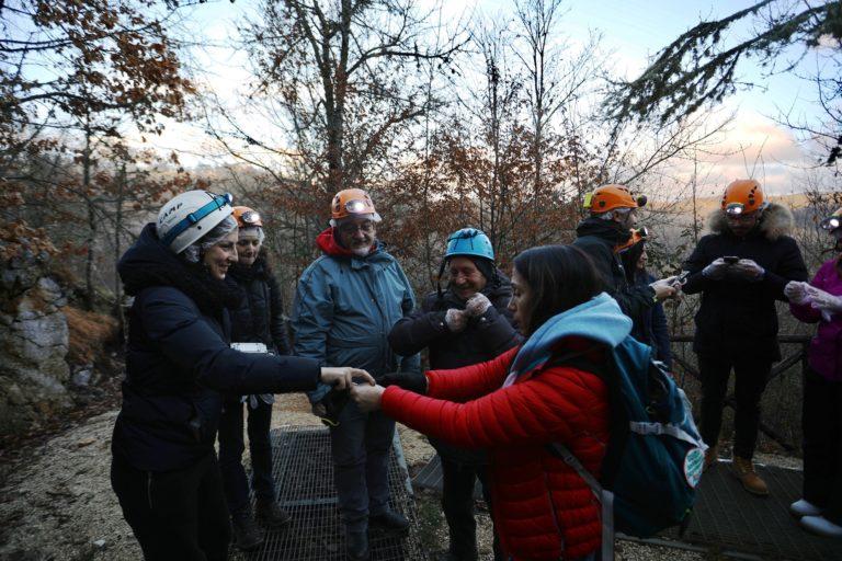Operatori da tutto l'Abruzzo in visita alle Grotte di Stiffe e Pietrasecca