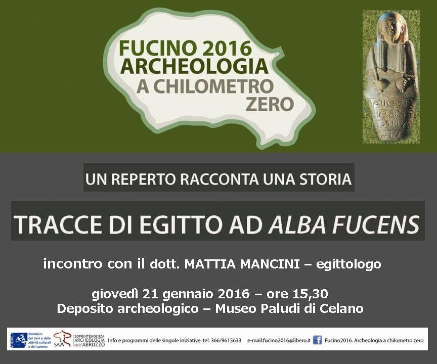 """Nuovo appuntamento del programma """"Fucino 2016: Archeologia a chilometro zero"""""""