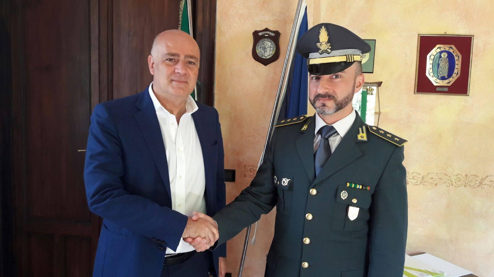 Il Sindaco De Angelis incontra il nuovo Comandante della GdF di di Avezzano Alessio Grillo