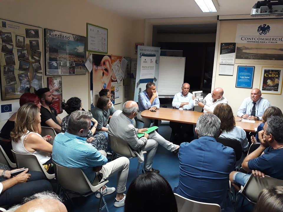 Pista ciclabile ad Avezzano, il sindaco De Angelis incontra i commercianti del centro