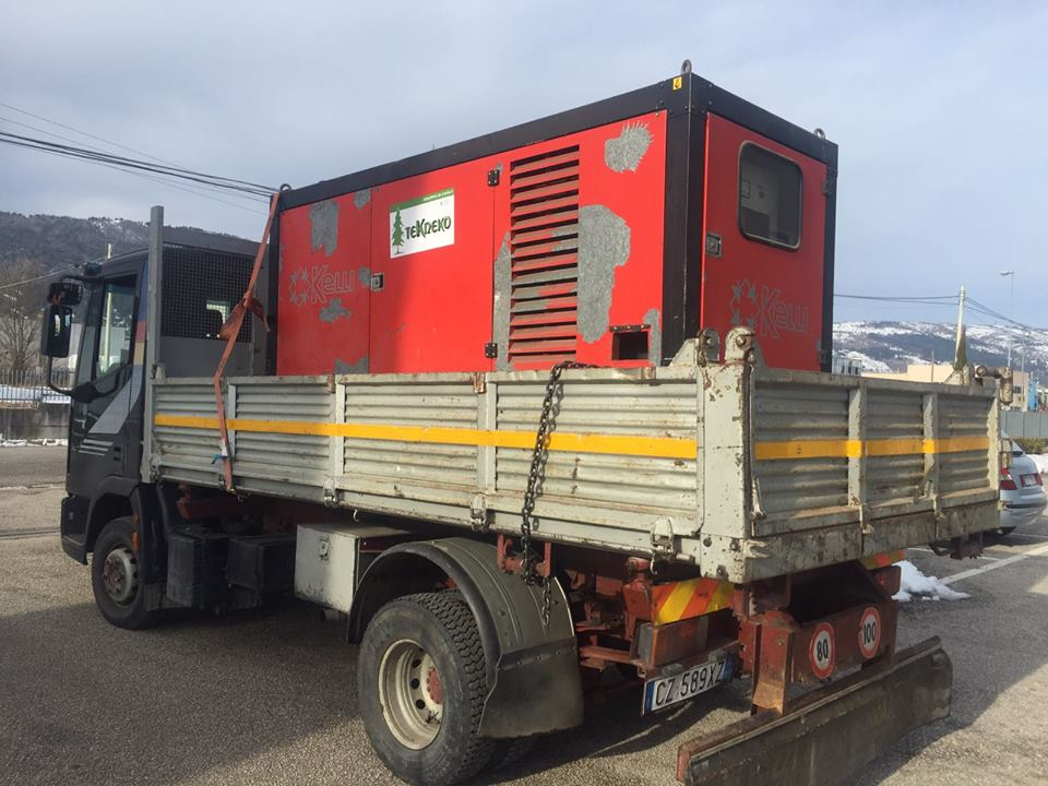 Solidarietà marsicana, la Tekneko invia un generatore di corrente a Campli