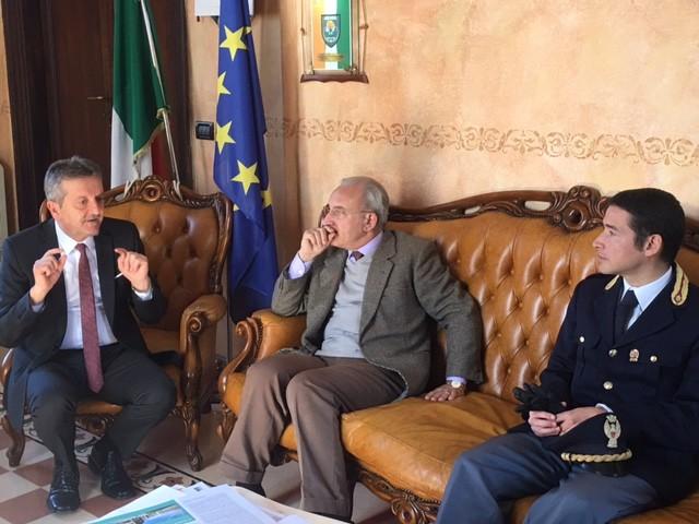 Il sindaco di Avezzano incontra il nuovo Questore di L'Aquila Maiorano