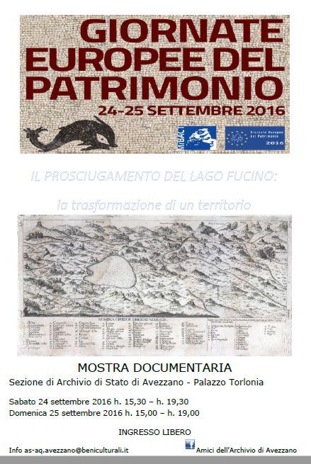 """Mostra documentaria """"Il prosciugamento del Lago Fucino: la trasformazione di un territorio"""""""