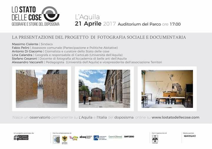 """""""Lo stato delle cose"""", un progetto di fotografia sociale e documentaria per raccontare l'Aquila e l'Italia del doposisma"""