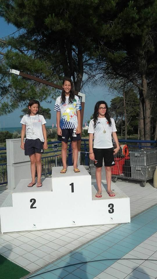 Un'atleta dell'Avezzano Nuoto a Rovereto in rappresentanza dell'Abruzzo