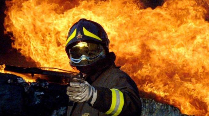 Incendio all'impianto Rotosud di Oricola