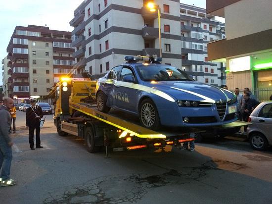 Incidente a Carsoli: coinvolta auto della Polizia
