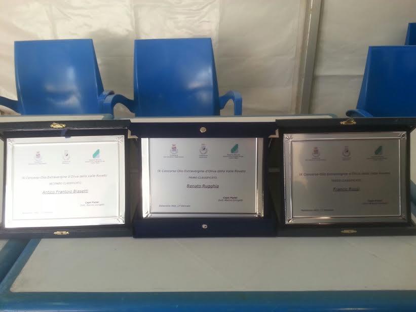 9° Concorso dell'Extravergine d'Oliva della Valle Roveto: i nomi dei vincitori