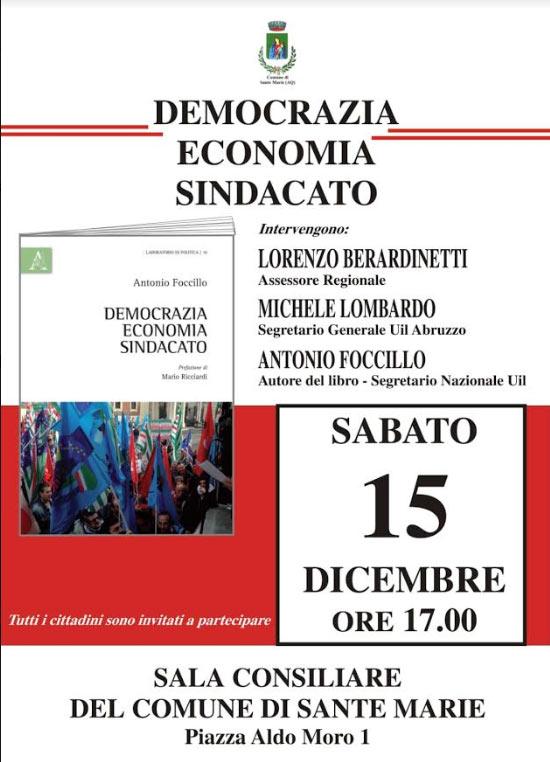 """Presentazione del libro """"Democrazia, economia, sindacato"""" di Antonio Foccillo"""