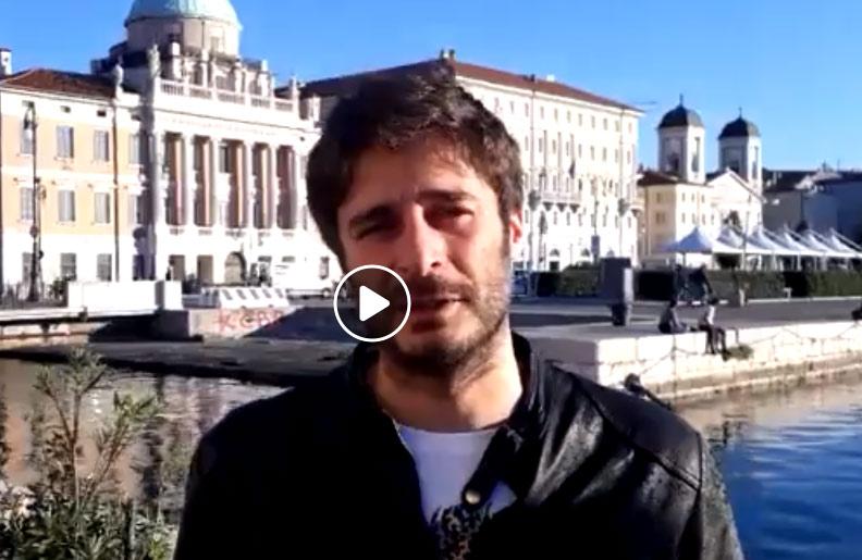 Lino Guanciale in video da Trieste per sostenere la stagione di prosa del Teatro di Avezzano