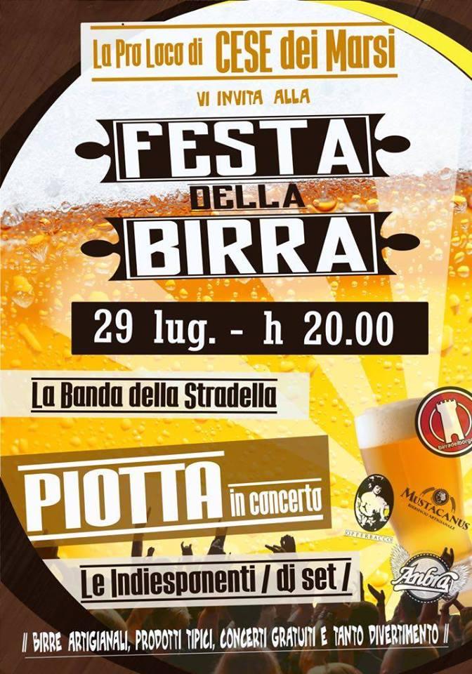Festa della Birra a Cese con il 'live' di Piotta