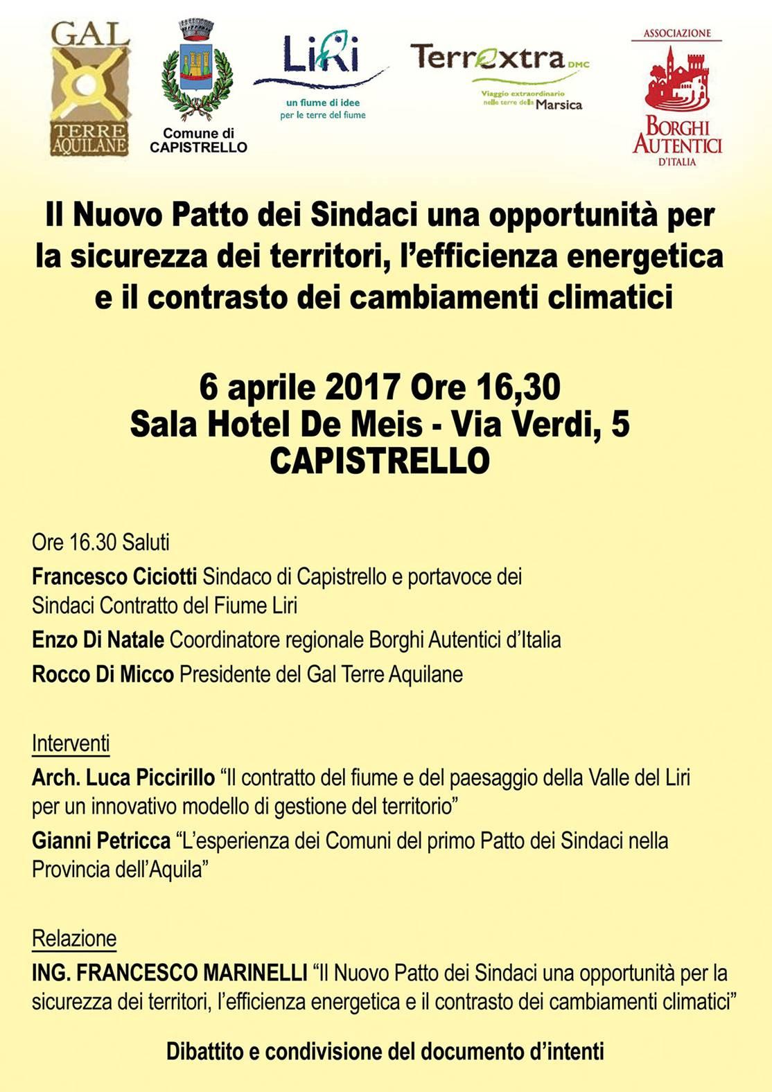 Sindaci e Amministratori del territorio a Capistrello per parlare di efficienza energetica e cambiamenti climatici