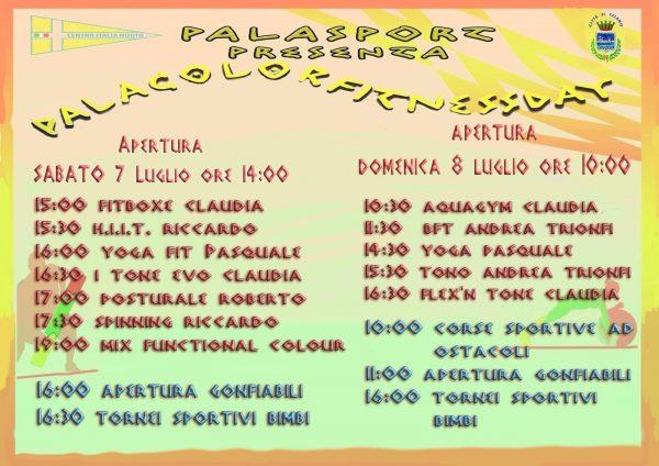 Celano, due giorni di sport con Palacolorfitness day 2018