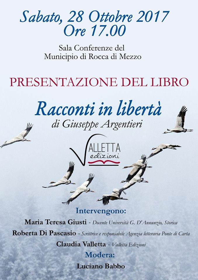 """""""Racconti in libertà"""", al via la presentazione del primo libro di Giuseppe Argentieri"""