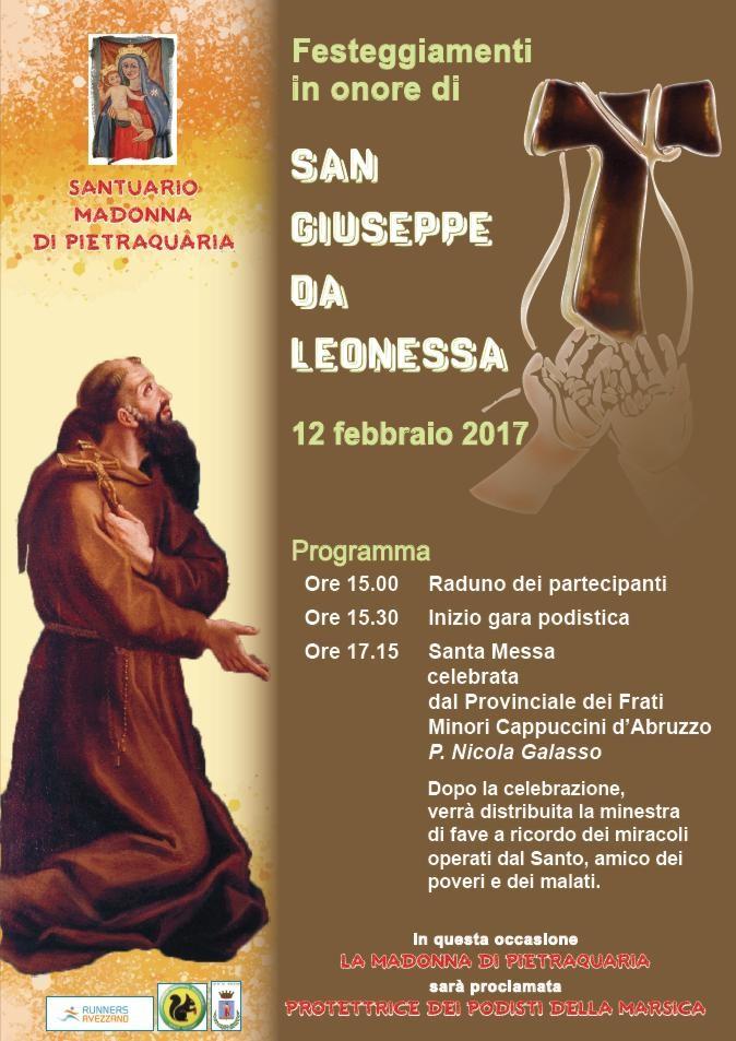Santuario del Salviano, domani è la festa di San Giuseppe da Leonessa. In agenda una gara podistica