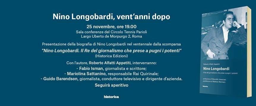 """Il giornalista Appetiti a Roma per presentare: """"Nino Longobardi. Il re del giornalismo che prese a pugni i potenti"""""""