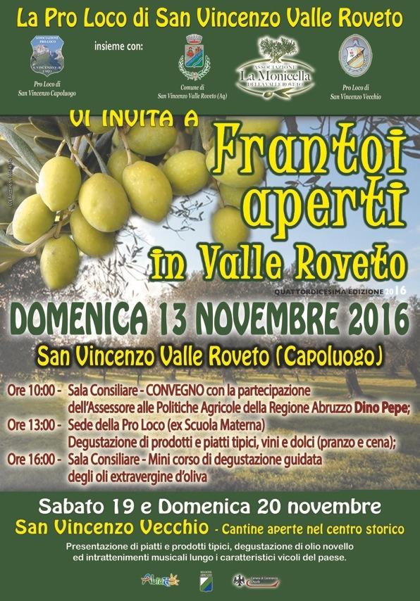 Convegno e tanto altro a Frantoi Aperti in Valle Roveto