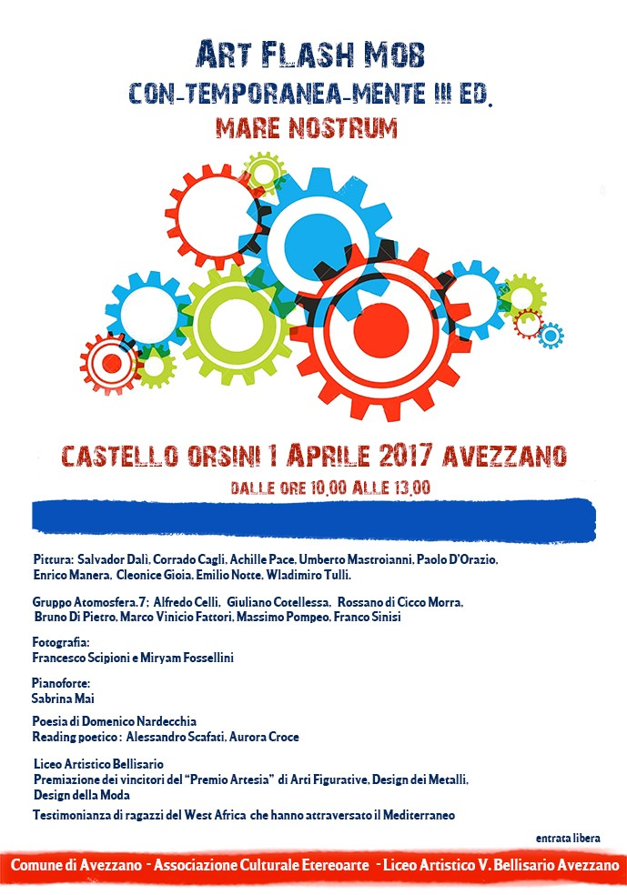 Il Castello Orsini di accende con la terza edizione di Art Flash Mob CON-TEMPORANEA-MENTE