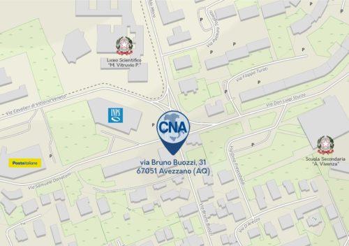 Gli uffici della CNA di Avezzano da oggi si trasferiscono in via Via Bruno Buozzi 31