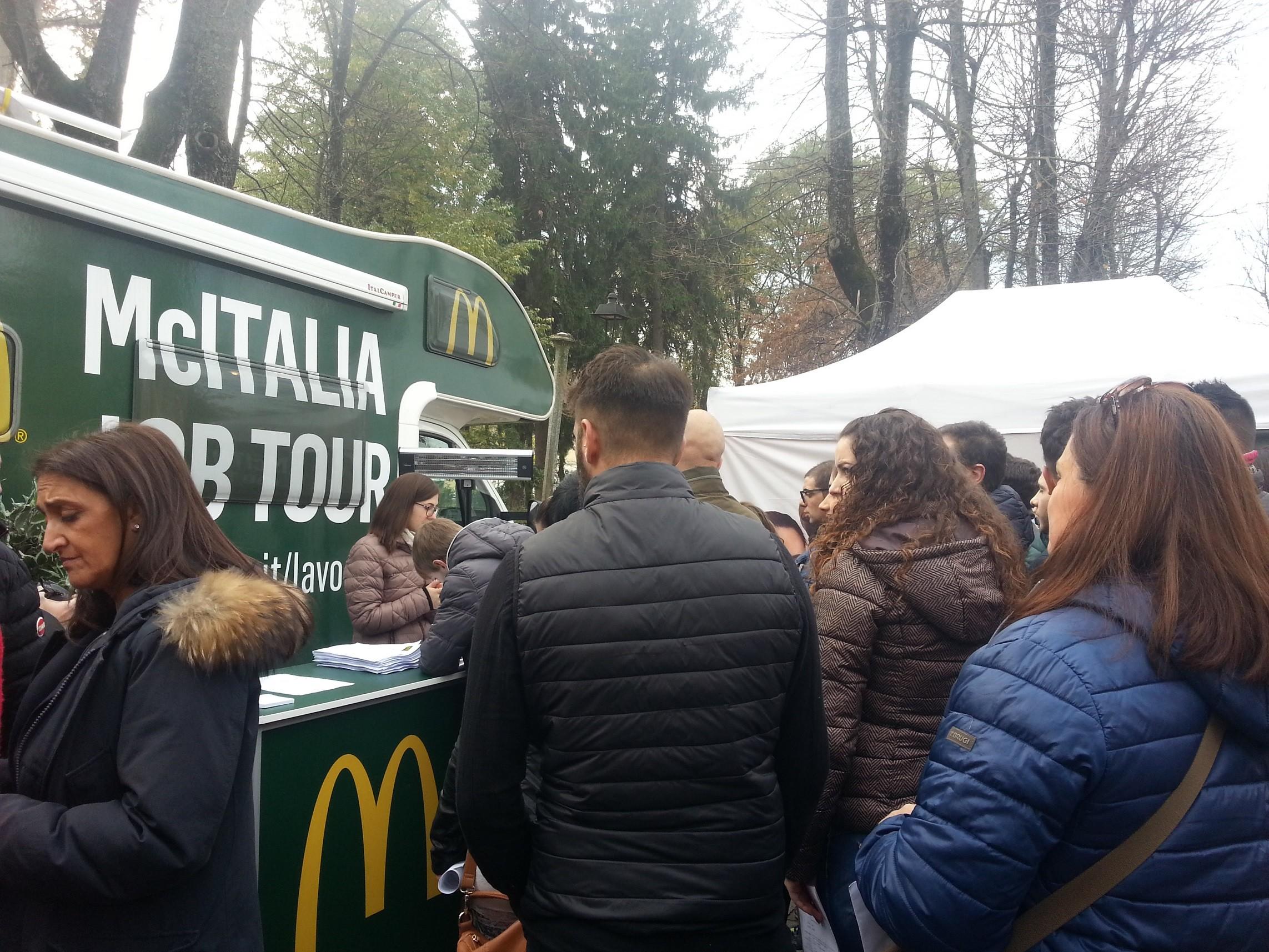 Il McItalia Job Tour fa tappa ad Avezzano i colloqui per 32 posti di lavoro da McDonald's
