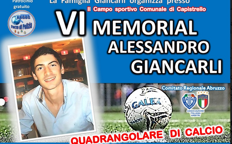 Memorial Alessandro Giancarli a Capistrello