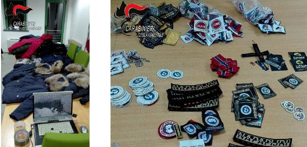 Magliano, i Carabinieri Forestali sequestrano merce contraffatta. Applicavano etichette di famosi marchi su capi di abbigliamento