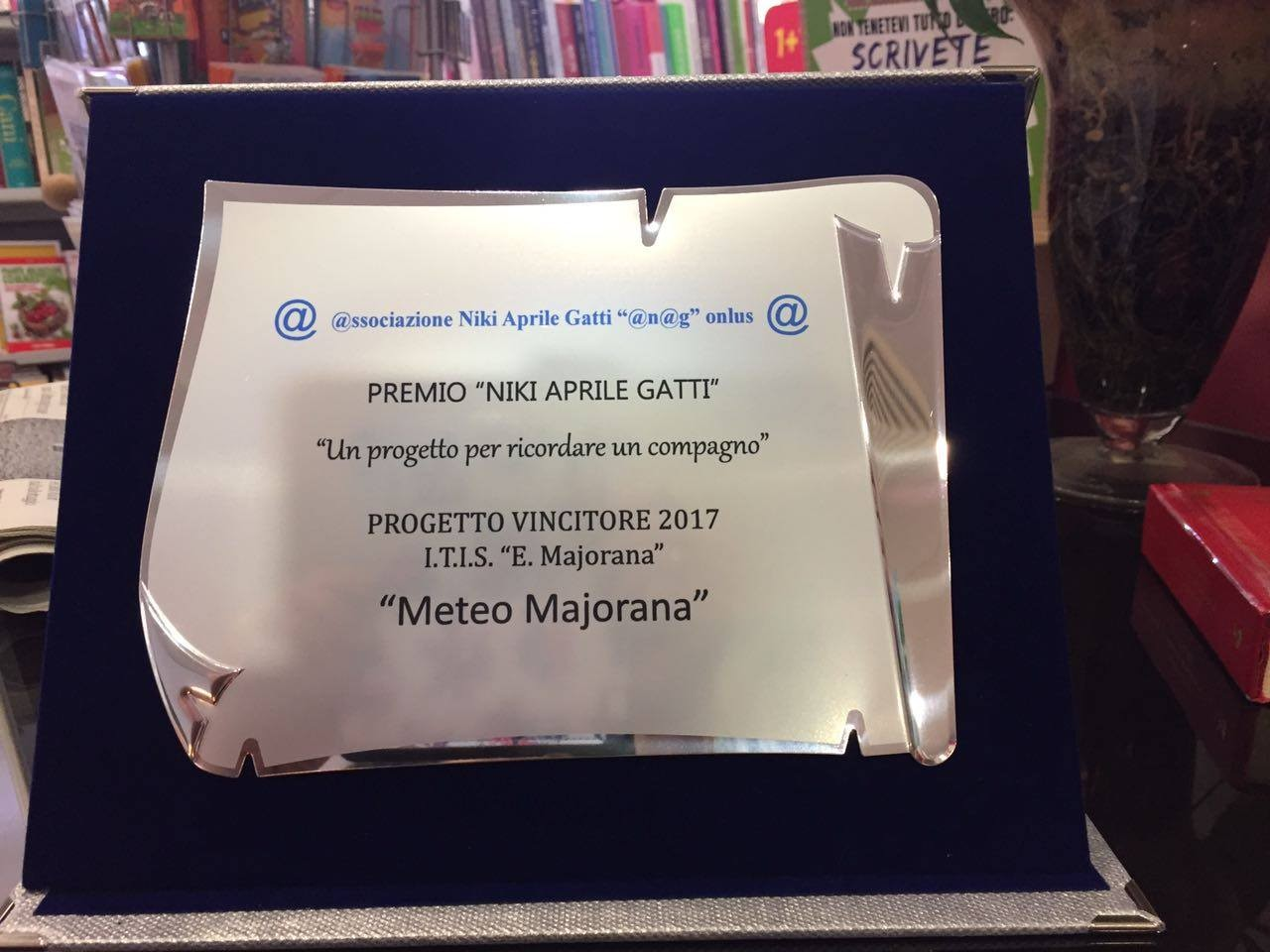 """Il premio """"Niki Aprile Gatti"""" 2017 va al progetto """"Meteo Maiorana"""". Domani la premiazione a scuola"""