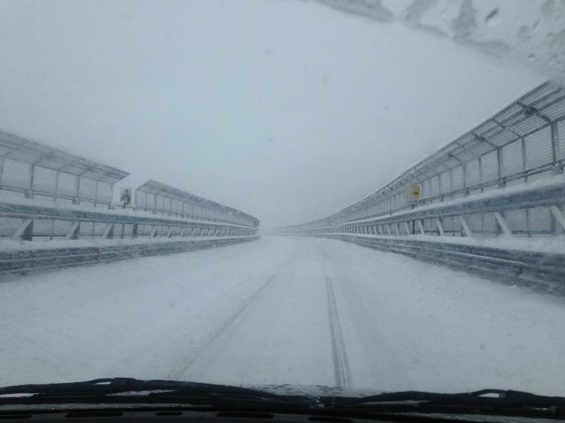A24-A25: oggi pomeriggio arriva la neve. Allerta per i viaggiatori