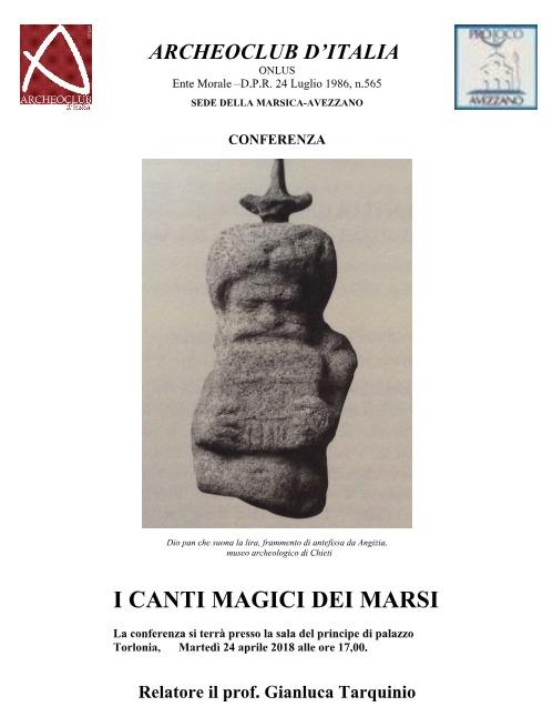ConferenzaI CANTI MAGICI DEI MARSI