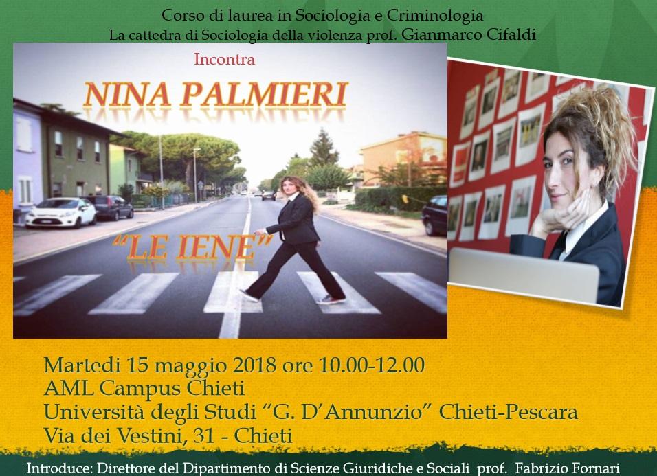 Nina Palmieri delle Iene all'Università D'Annunzio