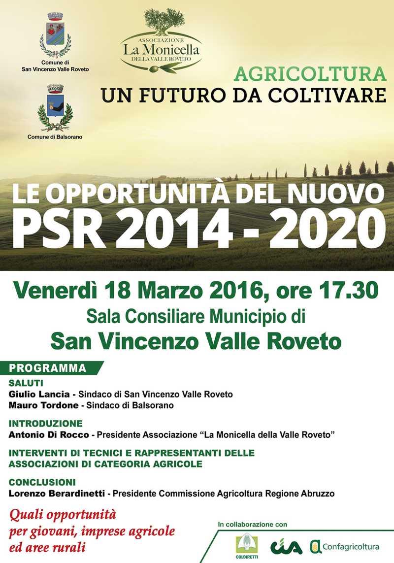 Presentazione del nuovo PSR Abruzzo