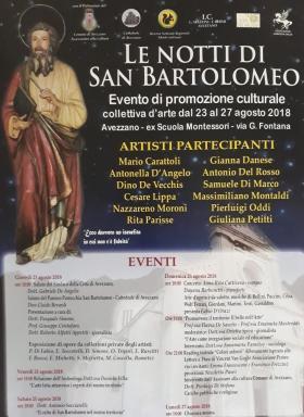 """Presentazione collettiva d'arte """"Le notti di San Bartolomeo"""""""