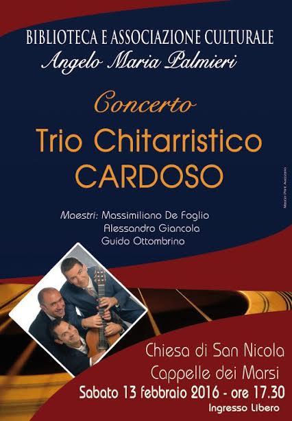 Trio Cardoso in concerto a Cappelle dei Marsi