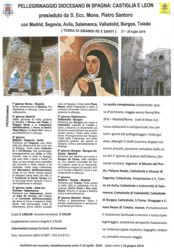 Pellegrinaggio diocesano in Spagna, terra di grandi re e santi