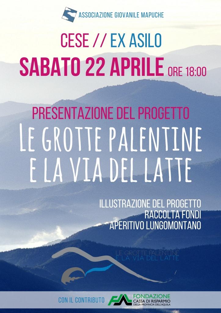 """L' Associazione Mapuche presenta il progetto """"Le grotte palentine e la via del latte"""""""