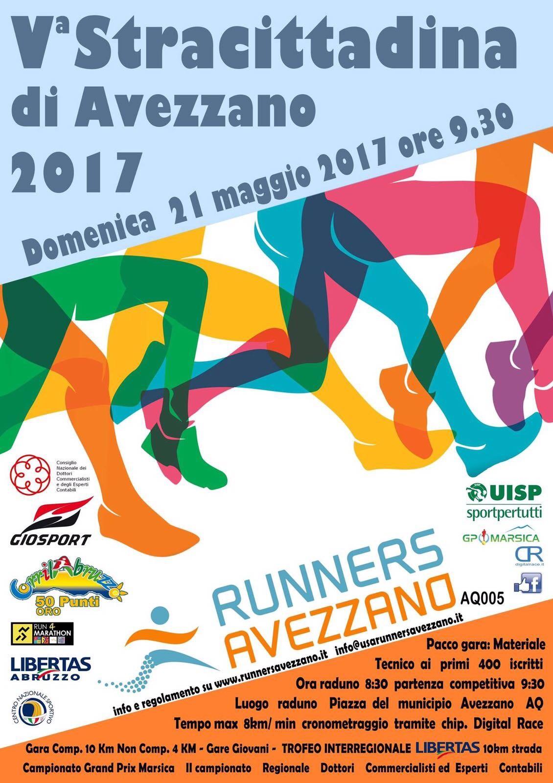 Tutto pronto per la quinta edizione della Stracittadina organizzata dalla Runners Avezzano