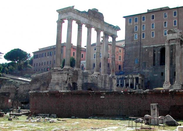 I Rostri, la famosa tribuna del Foro romano