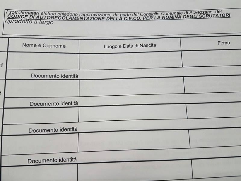 Scelta degli scrutatori ad Avezzano, parte la petizione per chiedere il sorteggio