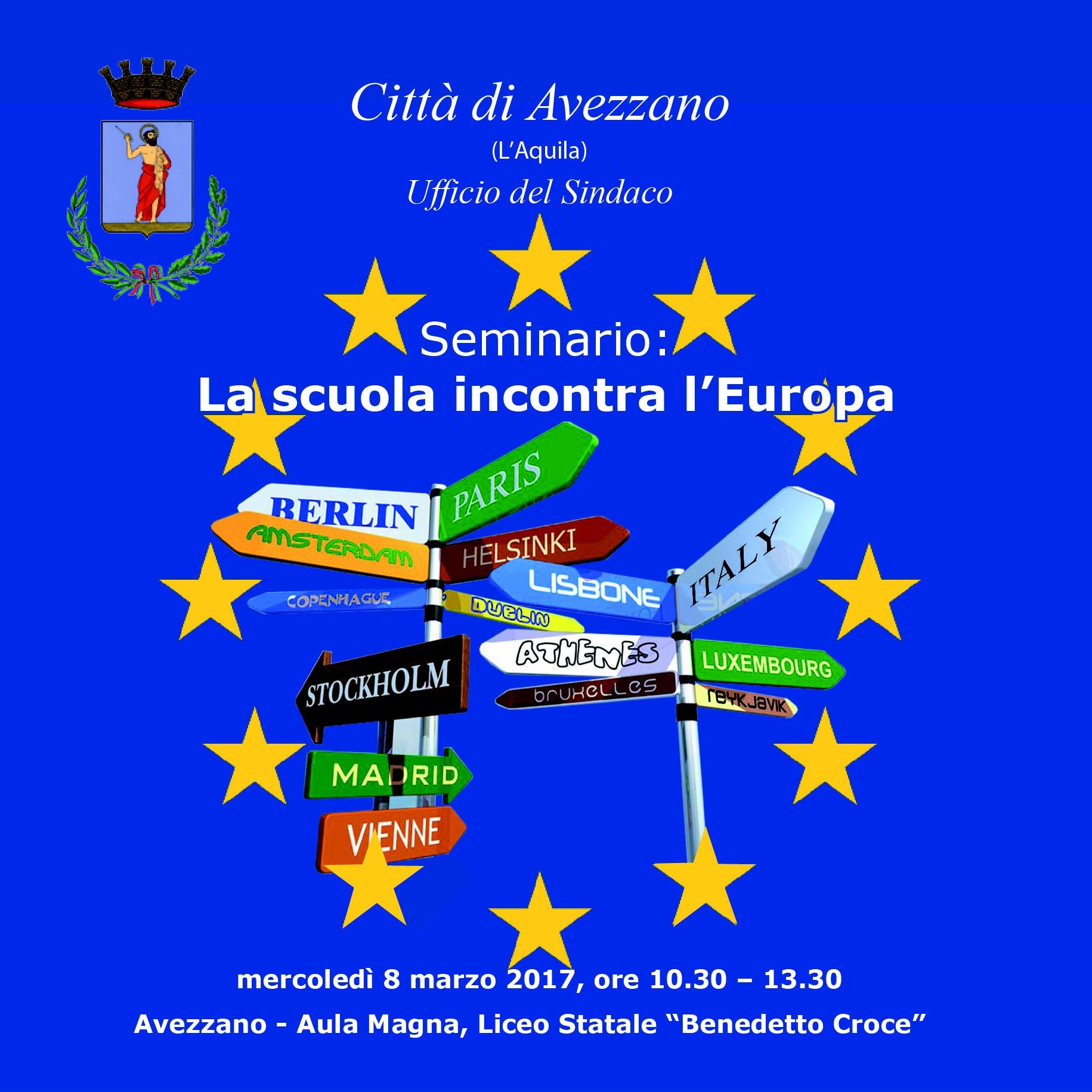 La scuola incontra l'Europa, domani al liceo Croce si parla di lavoro, nuovi sbocchi occupazionali e educazione