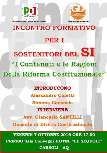 """Il """"SI"""" alla riforma Costituzionale"""