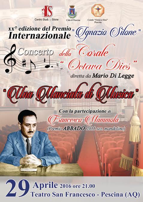 """""""Una manciata di musica"""" per la XX Edizione del Premio Internazionale I. Silone"""