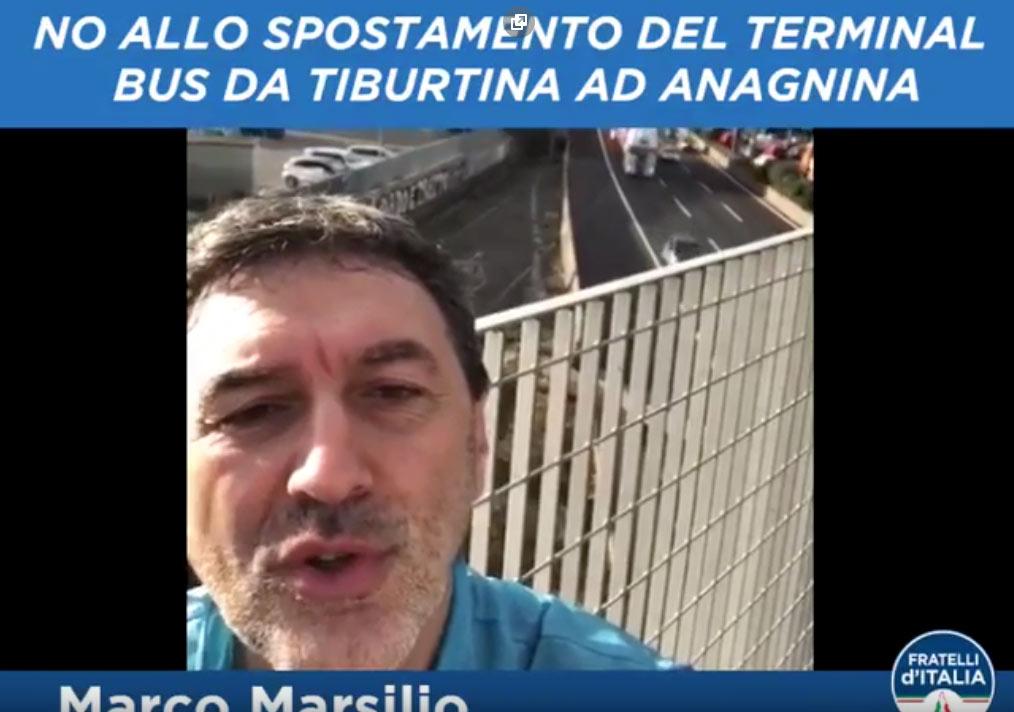 Video-documento del senatore Marsilio sui disagi che che si presenterebbero all'indomani del trasferimento