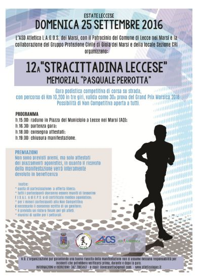 12a edizione della Stracittadina Leccese